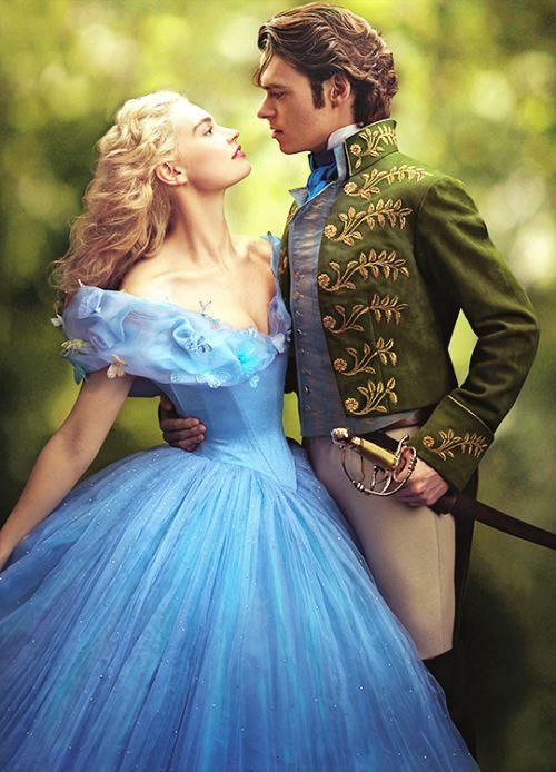 Lily James & Richard Madden in 'Cinderella' (2015).