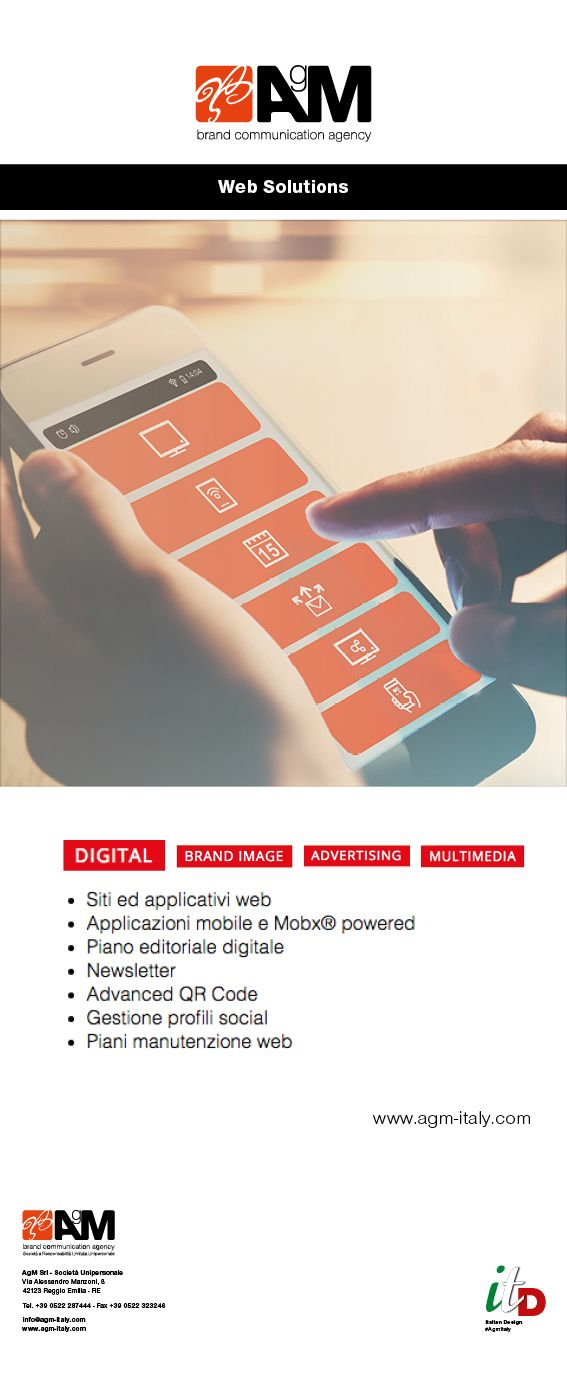 Il mondo del digitale è in continua evoluzione, ciò richiede aggiornamento costante ed adeguato. AgM è in grado di offrirti soluzioni digitali all'avanguardia e mirate alla tua singola esigenza. AgM, la tua soluzione ideale!  #brandcommunicationagency #digital #web #mobileapp