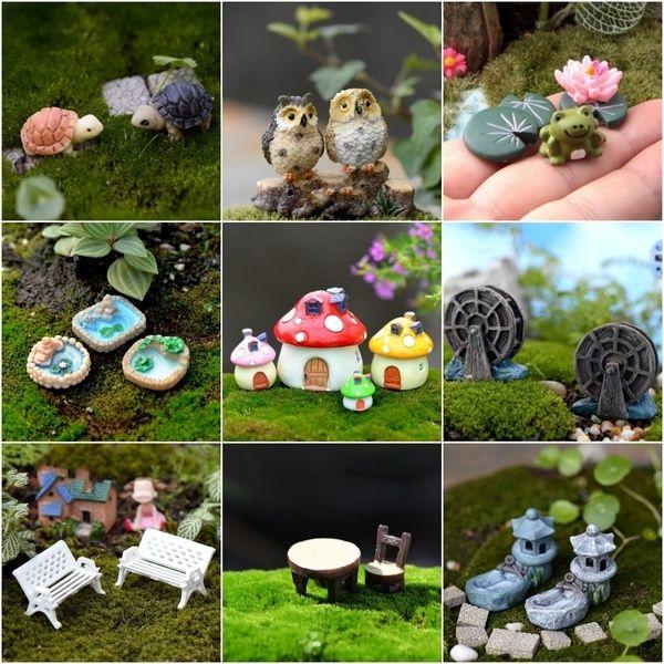Miniatures Garden Decor Micro Landscape Ornaments Animals Furnitures Bonsai Decorations Miniatures Bonsai Decor
