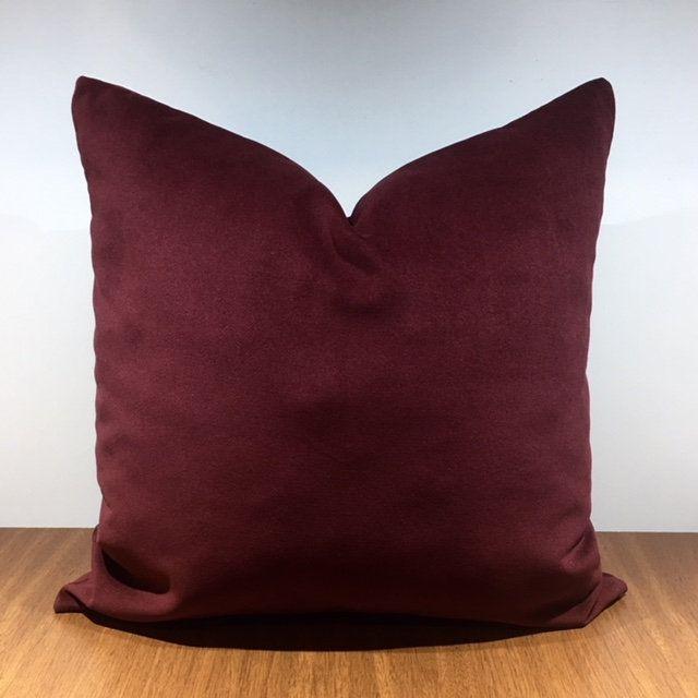 Burgundy Velvet Throw Pillows Burgundy