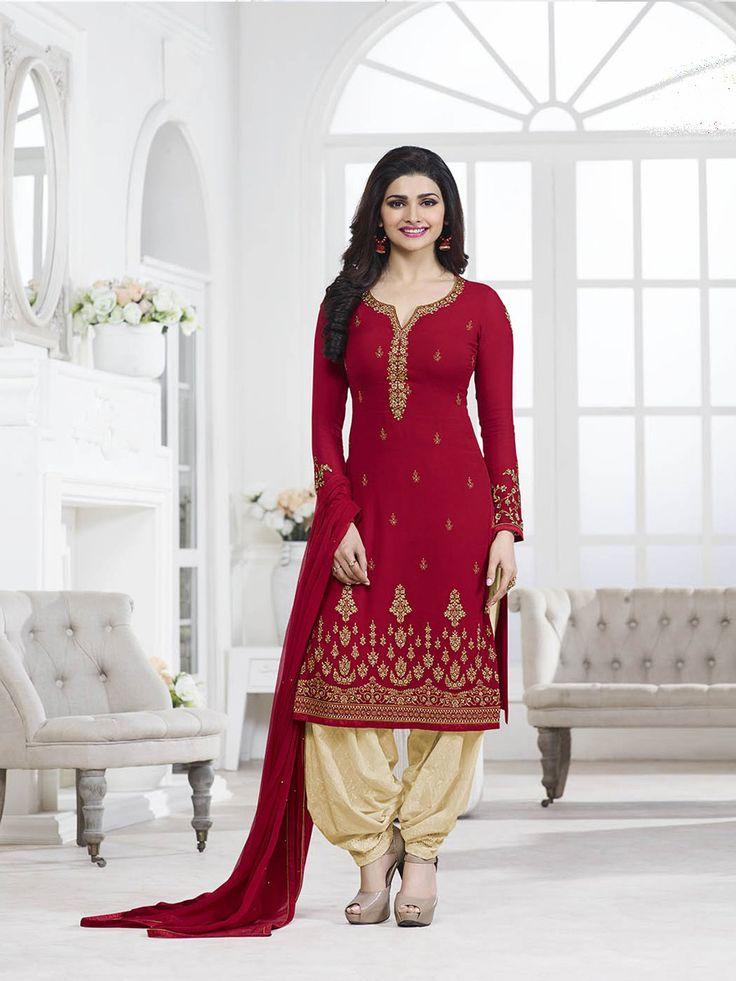 #Semi #Stitched #Maroon #Straight Cut #Salwar #Suit #nikvik  #usa #designer #australia #canada #freeshipping