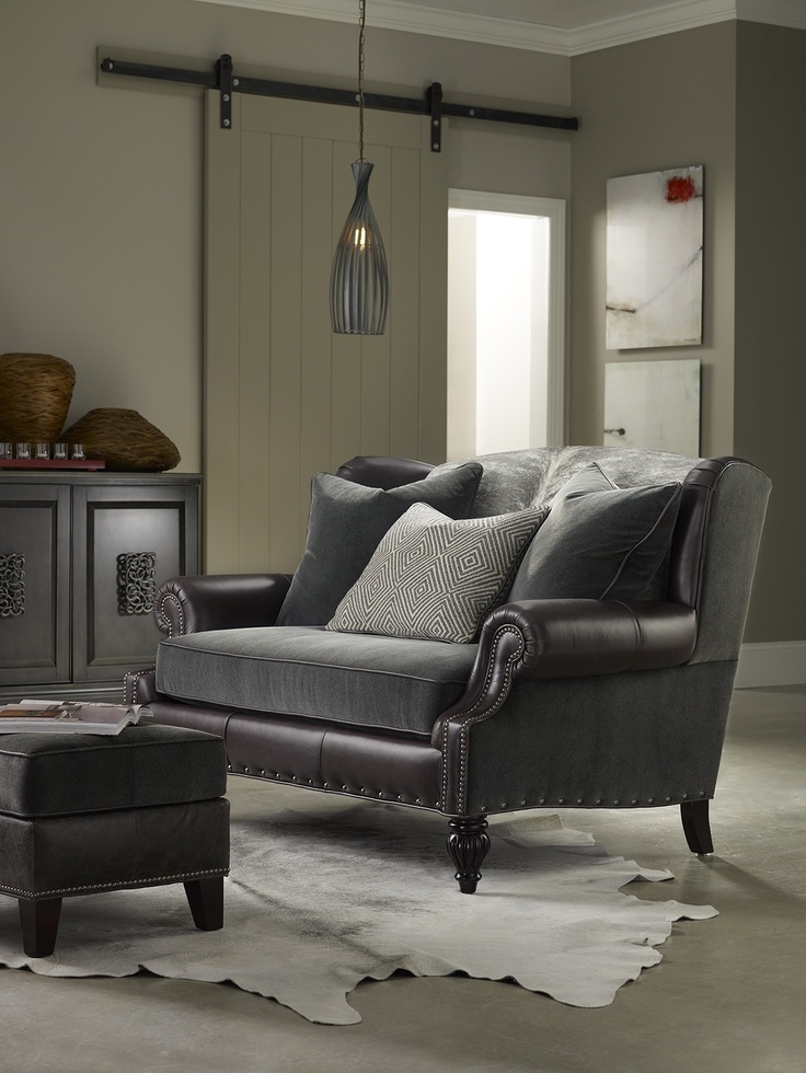 Wonderful Sassy Sadie Settee With #hair_on_hide From #bradington_young