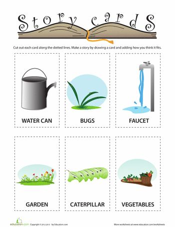 Worksheets: Garden Story Cards
