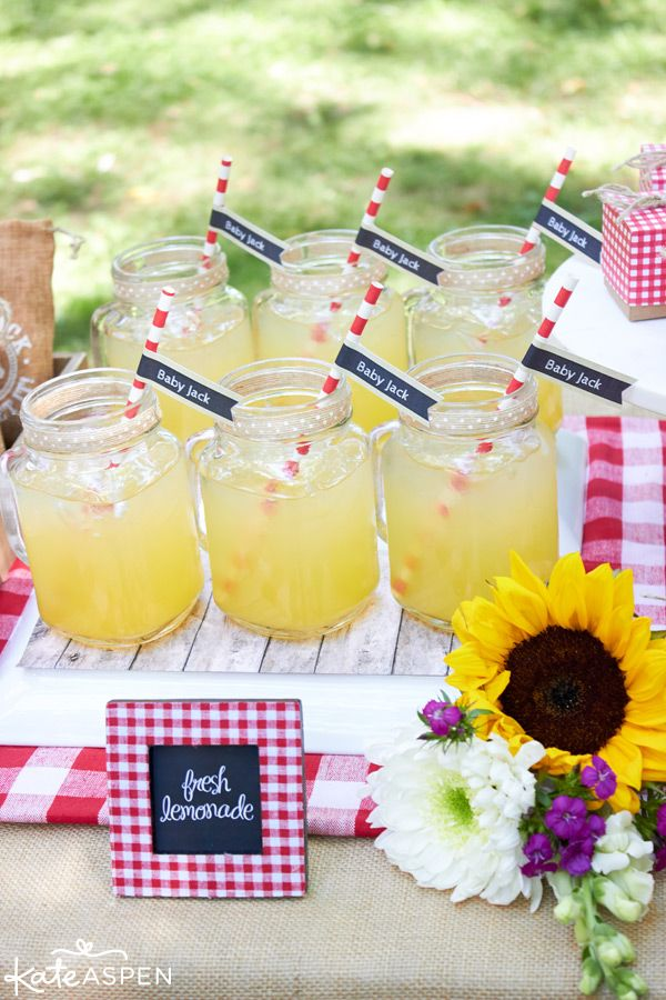 Prep a Baby-Q themed menu that will satisfy the whole gang! Fresh lemonade is a refreshing drink everyone will love.