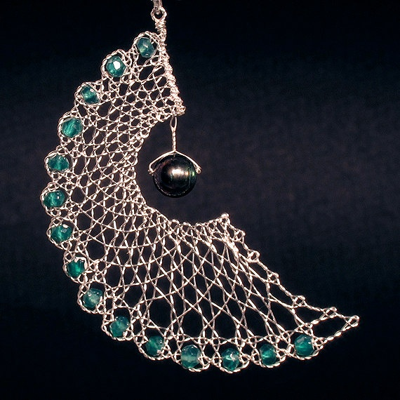 Beautiful Angel Wings Sterling Silver Lace Earrings by RoseGround on Etsy. Amazing handmade earrings.
