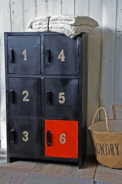 Industrial 1 2 3 4 5 6 Door Metal Cabinet