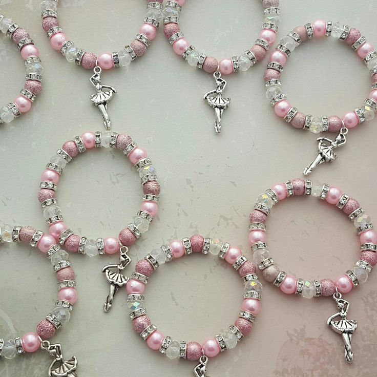 Beautiful ballerina bracelets being posted today! 10 of these beauties are making it over the water to their new homes in the States!