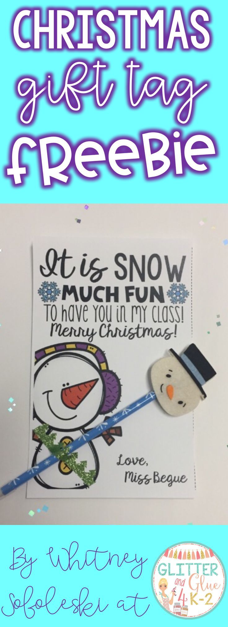 Looking for a cute and easy gift for your little ones during the holidays? Check out these editable gift tags! Keywords: winter themed, snowman theme, elementary teachers, holiday gifts, free gifts, freebies, TpT, printables, Christmas gifts for students, kindergarten, first grade, second grade, gift tags for students