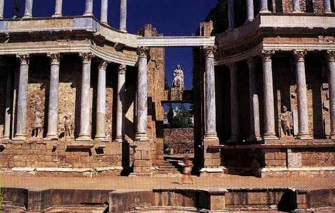Columnas Romanas en Mérida.