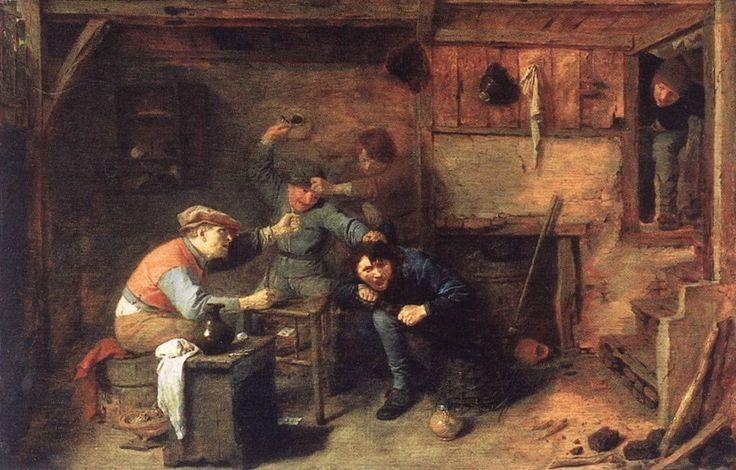 Peasants Fighting - Adriaen Brouwer