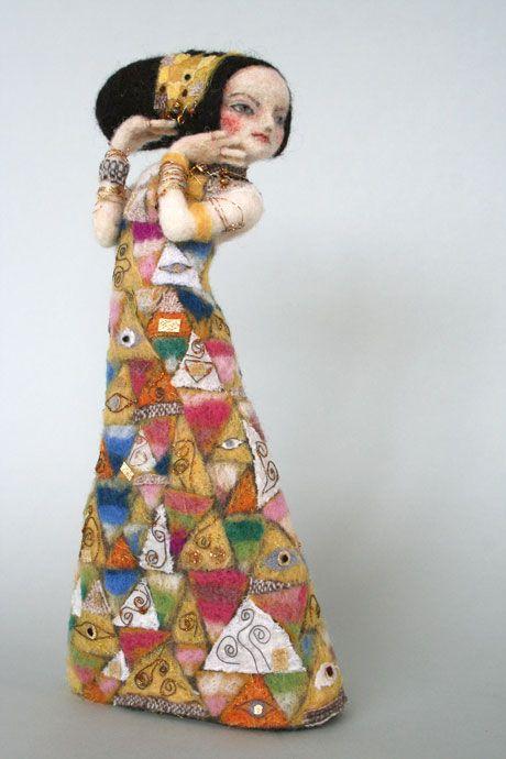 羊毛倉庫の日々  Character Doll after Gustav Klimt Painting