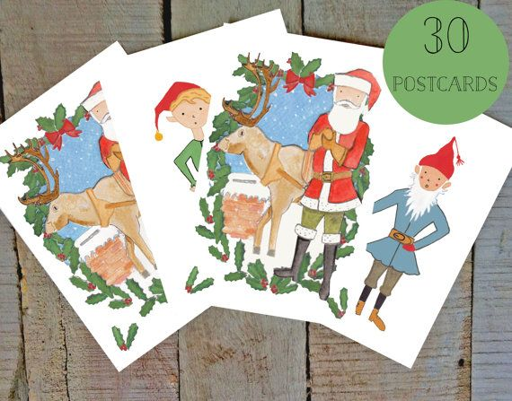 Get 15% off on Etsy using the coupon code PIN99 Christmas Cards  Set of 30 assorted Christmas by amylindroos