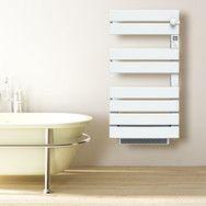 Sèche-serviettes électrique lames plates design avec soufflerie sans fluide
