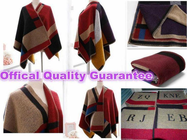 2015 Rushed Real Patchwork Adult Bandana Hijab Top Quality Famous Brand Blanket Coat Original Cape Wool Winter Star Show Manta - http://sns.waimaobox.com/?p=33887