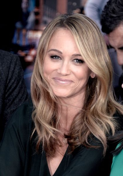Christine Taylor at the Ben Stiller Walk of Fame Ceremony. Hair by Jenny Cho. Makeup by Monika Blunder.