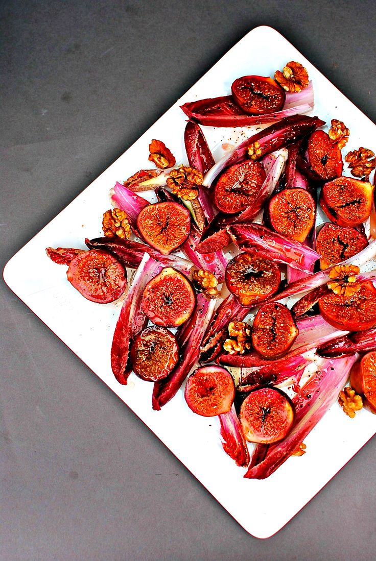 balsamic roasted fig salad by food to glow