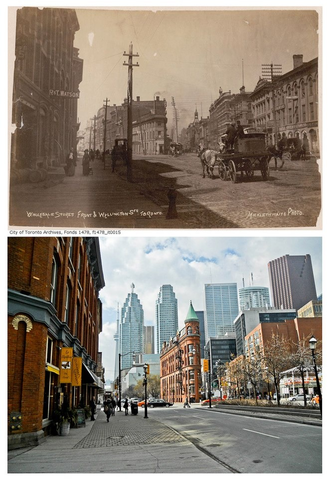Church and Front looking west (Vintage Toronto, Facebook; Photo Credit Michael Mullen)