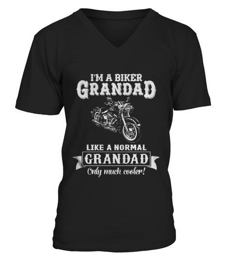COOL-BIKER-GRANDAD-LIKE-NORMAL-GRANDAD-O polo bike shirt,