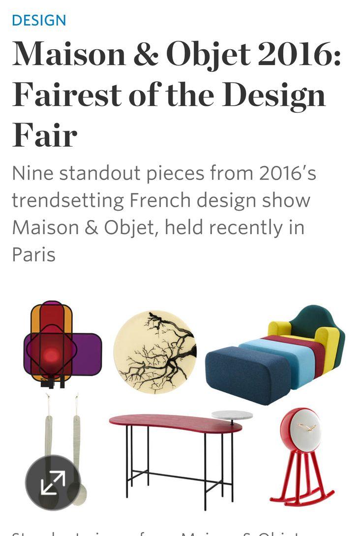 New York's Wallstreet Journal  report on Maison & Objet Paris 2016