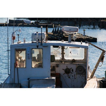 Fishing trawler at harbor Lobster Cove Annisquam Gloucester Cape Ann Essex County Massachusetts USA Canvas Art - Panoramic Images (18 x 24)