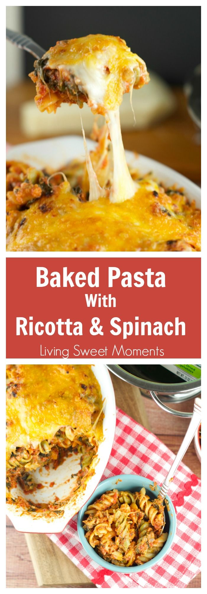 ... with a homemade tomato ricotta sauce. More on livingsweetmoments.com