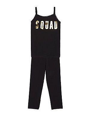 Esme Toddler's, Little Girl's & Girl's Squad Loungewear Set