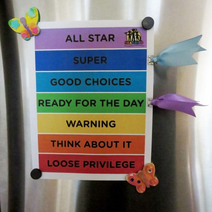 FREE Behavior Clip Chart for HOME! Print on standard 8.5x11 paper or card stock. by NEATLINGS