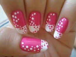 Pink n white polka dot