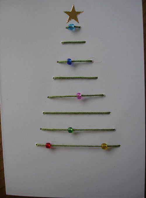 Make the wholes bigger and the child can lace the tree themselves. Then add glitter, buttons, and stickers after!
