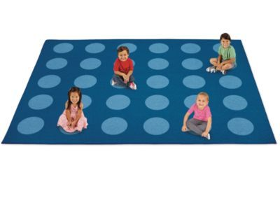 A Spot for Everyone Classroom Carpets: Our inviting carpets give kids a special spot to sit and play! Kids just find a dot and get cozy—and they're ready for activities, storytime, games and more!