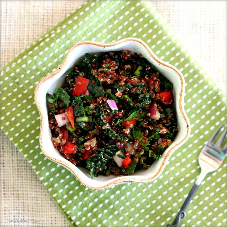 Red Quinoa and Kale Slaw by tastefoodblog #Salad #Kale #Quinoa #tastefoodblog: Tastefoodblog Salad, Health Food, Kale Salad, Slaw Tf, Clean Eating, Gluten Fre Grains, Kale Slaw, Red Quinoa, Other Quinoa