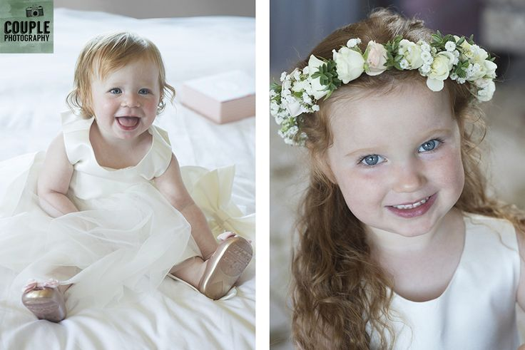 Ella & Lottie the two flower girls are ready to see mammy & daddy get married. Weddings at Druids Glen Hotel by Couple Photography.