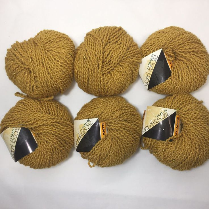 Gianni Versace Designer Yarn Atlante Profilia Spa Made Italy Lot of 6 Gold Rare #GianniVersace #Metallic