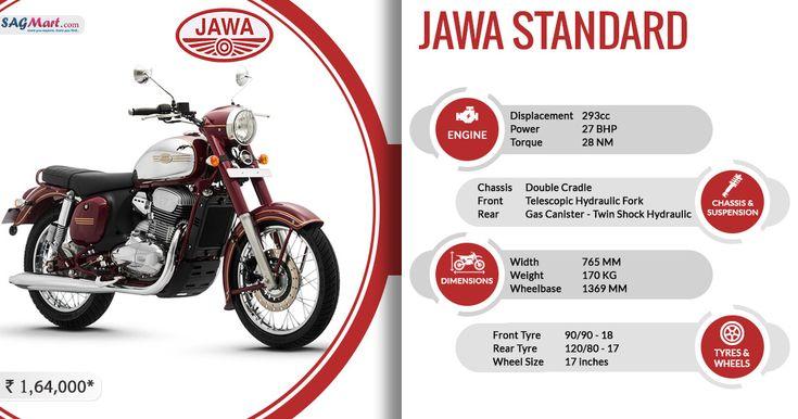 Jawa Standard 300 Price In India 17 Inch Wheels Motorcycle Bike