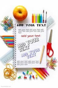Make a free school poster templates-free!
