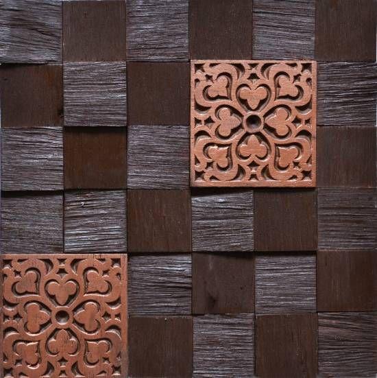 Brogliato Revestimentos - Coleções - Vintage - V023 Chocolate - 30x30cm.