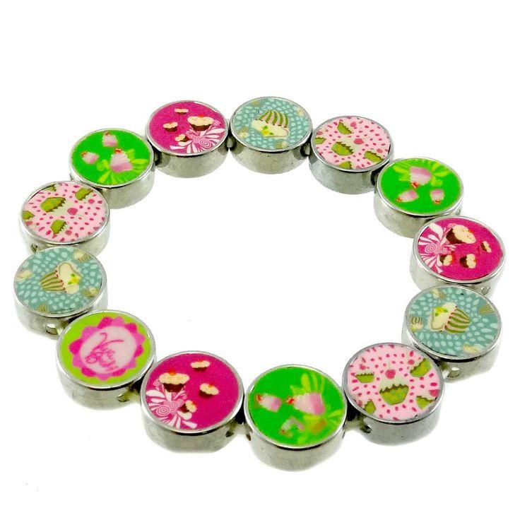 Jewelry Diva Cupcakes Pebble Bracelet Bracelet