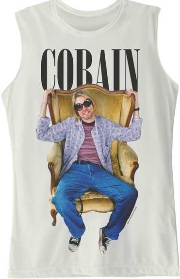 nirvana band shirt - kurt cobain shirt - rock fashion - raw edge muscle tank - http://www.band-tees.com/store/N_00400_278!FEA/Kurt+Cobain+Chair+Raw+Edge+Jr+Muscle+Tank