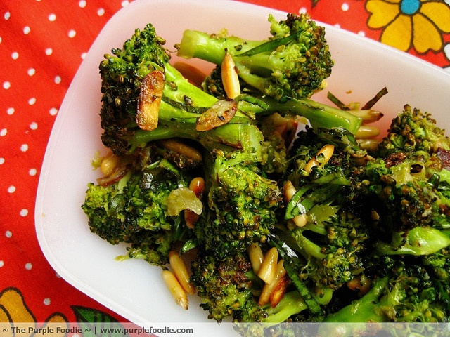 Parmesan Roasted Broccoli by The Purple Foodie, via Flickr