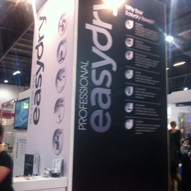 Easydry stand at Salon International 2012