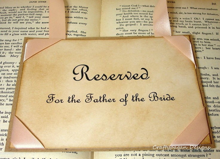 Luxury Reserved Wedding Seating Signs