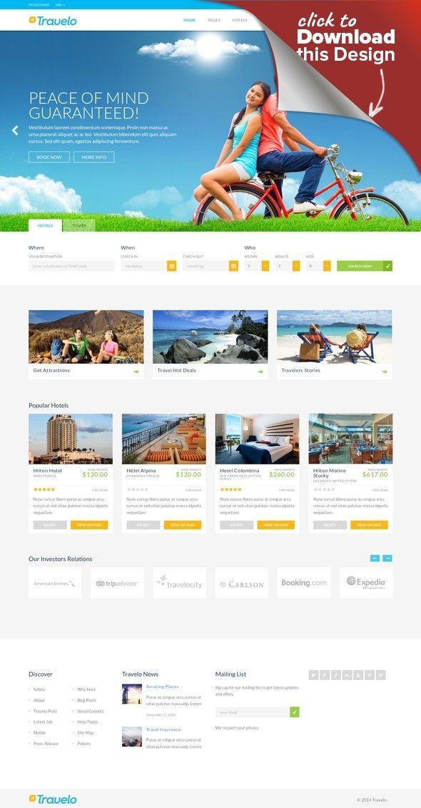 Travelo Travel Tour Booking WordPress Theme Accommodation Holiday Hotel Multi Language