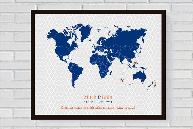 Paper Bound Love @Etsy, Guest Signing Map Poster ($41.64)