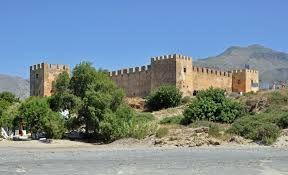 Kreta: Frangokastello dorp en fort aan de zuidkust van Kr...