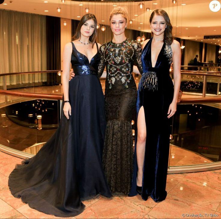 Que trio! Camila Queiroz, Grazi Massafera e Agatha Moreira arrasaram no look para o Emmy Internacional 2016