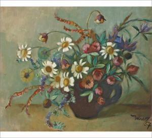 Martta Wendelin - Still Life With Flowers. Original 1957