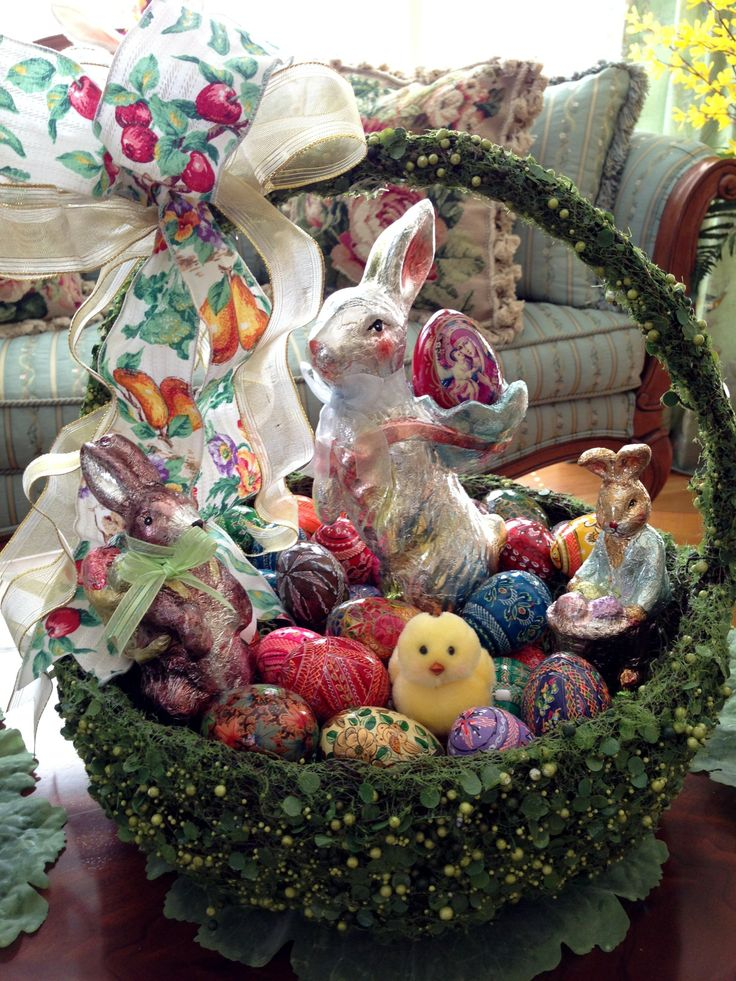 Eggs, Easter baskets and Baskets on Pinterest