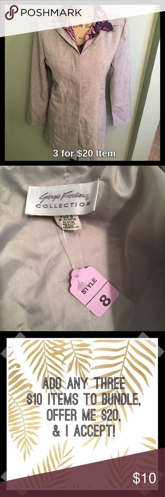 GF Grey Blazer Sale! Price is firm unless 3 for $20 bundled. Button closure Blazer. Great for work! Jackets & Coats Blazers