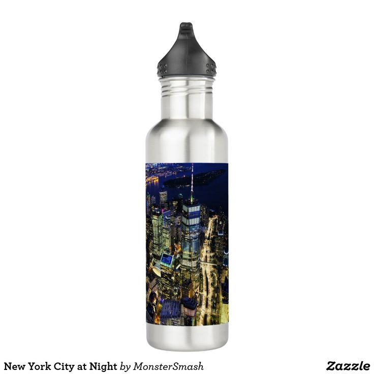 New York City at Night 710 Ml Water Bottle