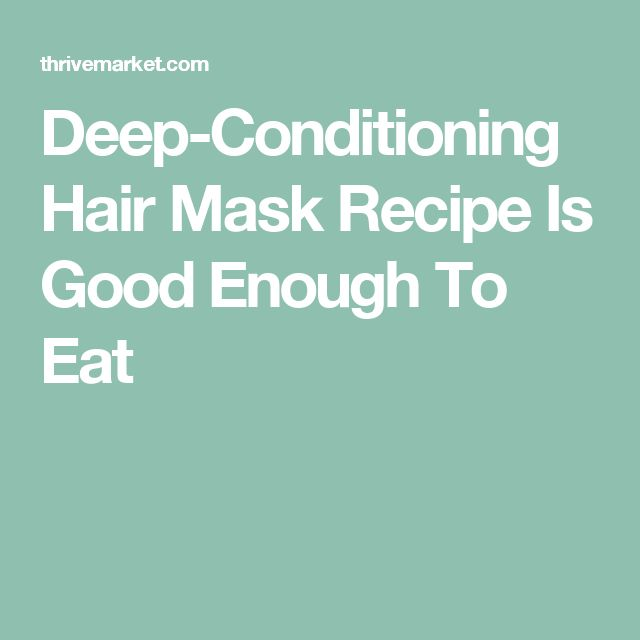 Deep-Conditioning Hair Mask Recipe Is Good Enough To Eat